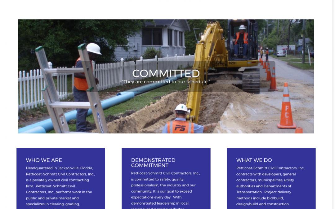 Petticoat-Schmitt Civil Contractors: Website
