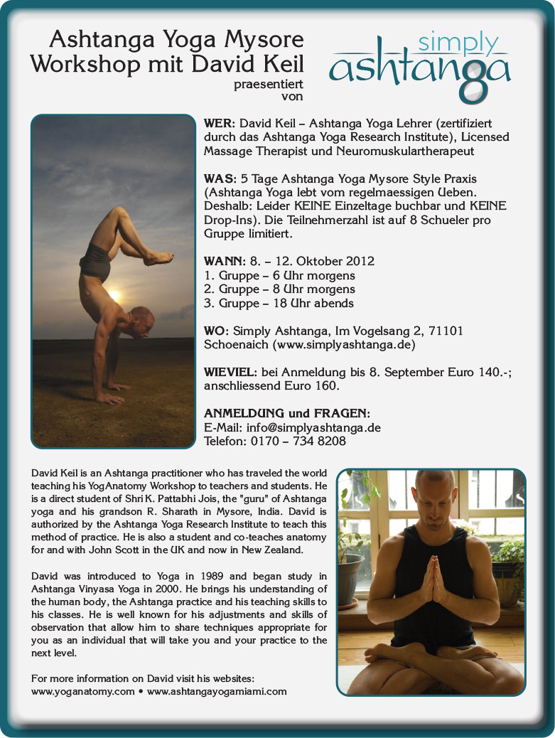 Simply Ashtanga Flyer