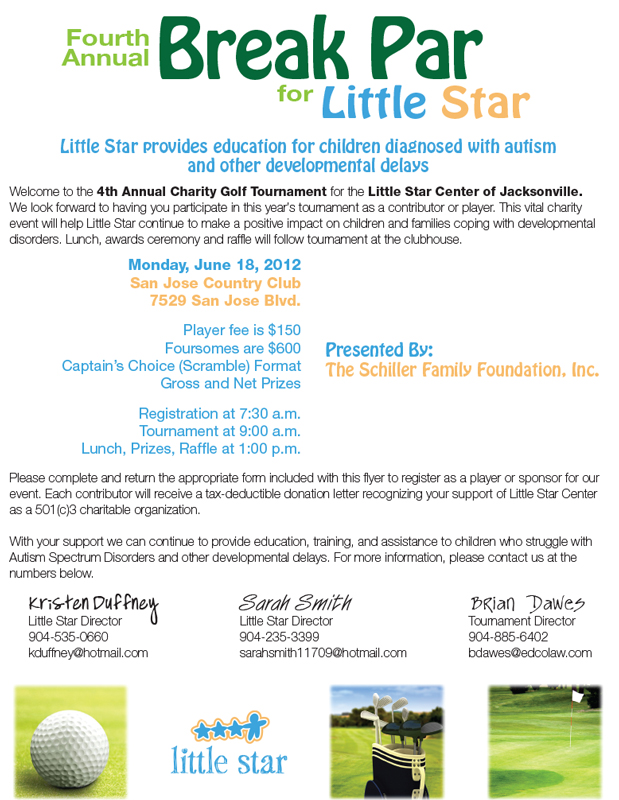Little Star Golf Tournament Flyer