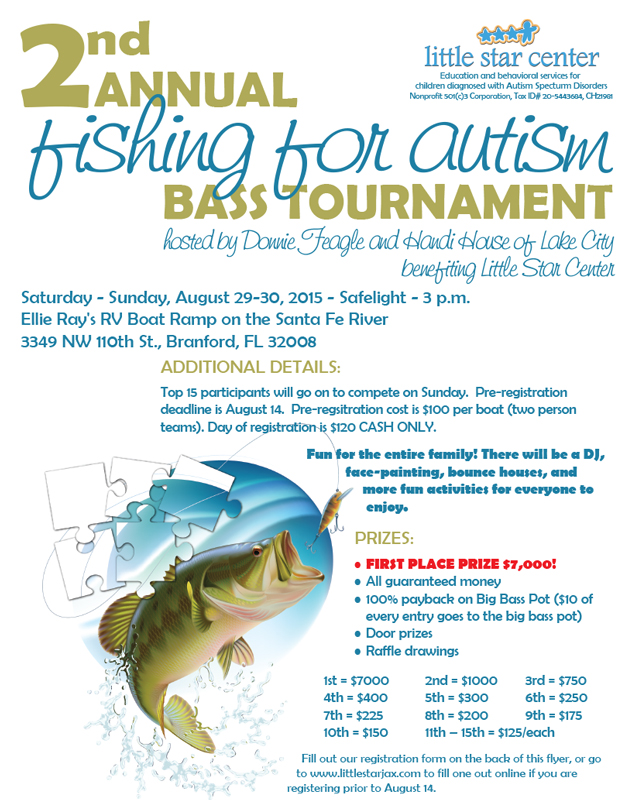 Little Star Fishing Tournament Flyer