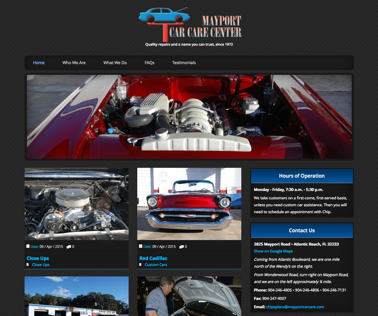 Mayport Car Care | WordPress Site