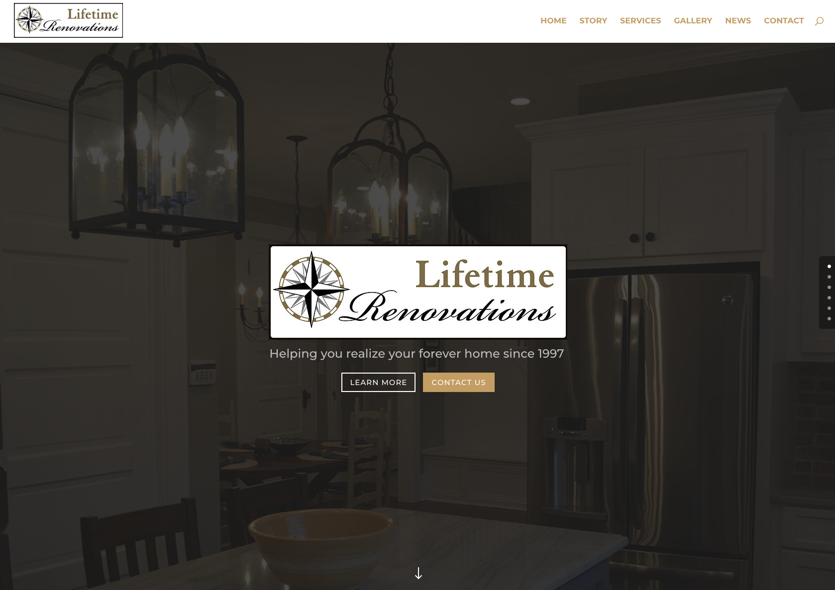 Lifetime Renovations website
